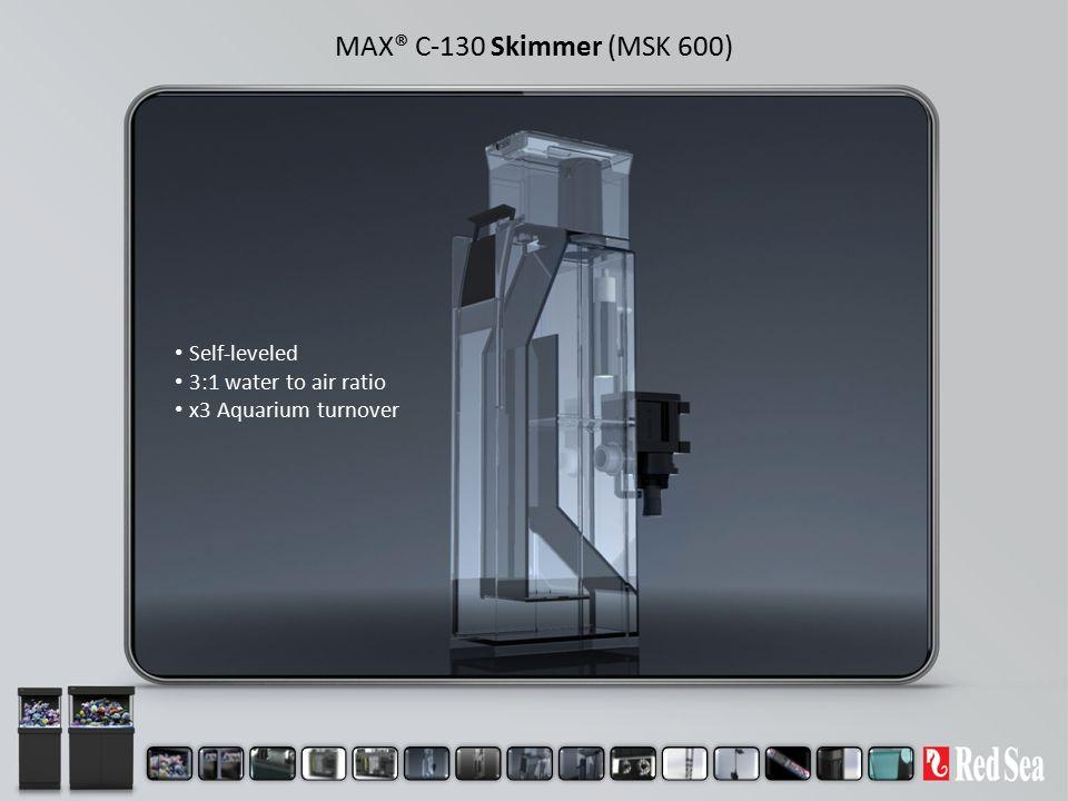 MAX® C-130 Skimmer (MSK 600) Self-leveled 3:1 water to air ratio x3 Aquarium turnover