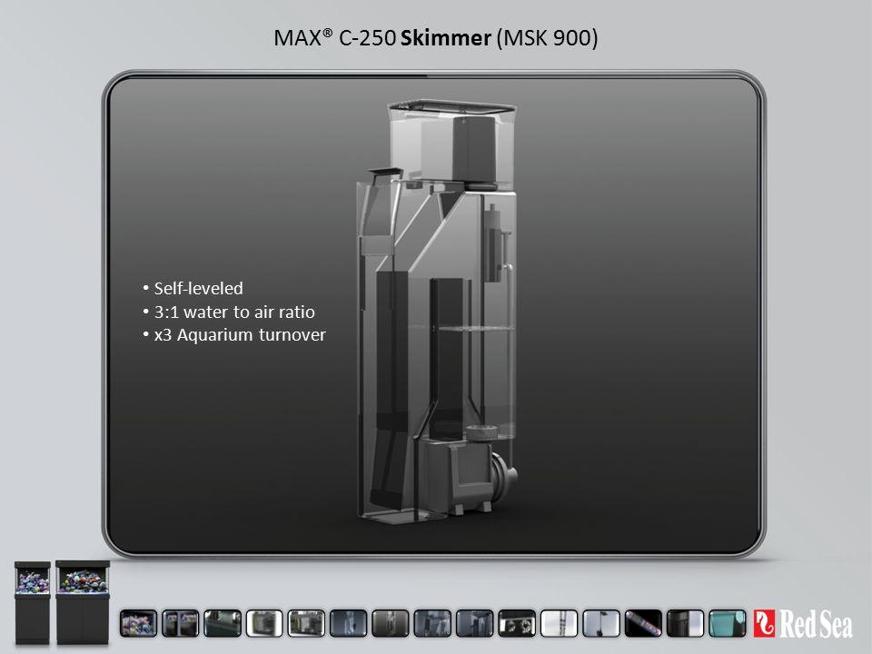 MAX® C-250 Skimmer (MSK 900) Self-leveled 3:1 water to air ratio x3 Aquarium turnover