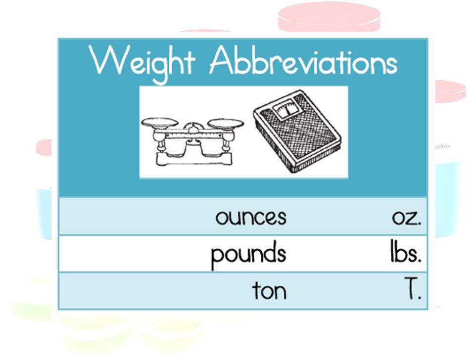 16 oz. = 1 lb.