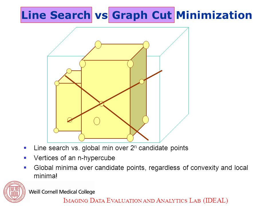 I MAGING D ATA E VALUATION AND A NALYTICS L AB (IDEAL) 19  Line search vs.