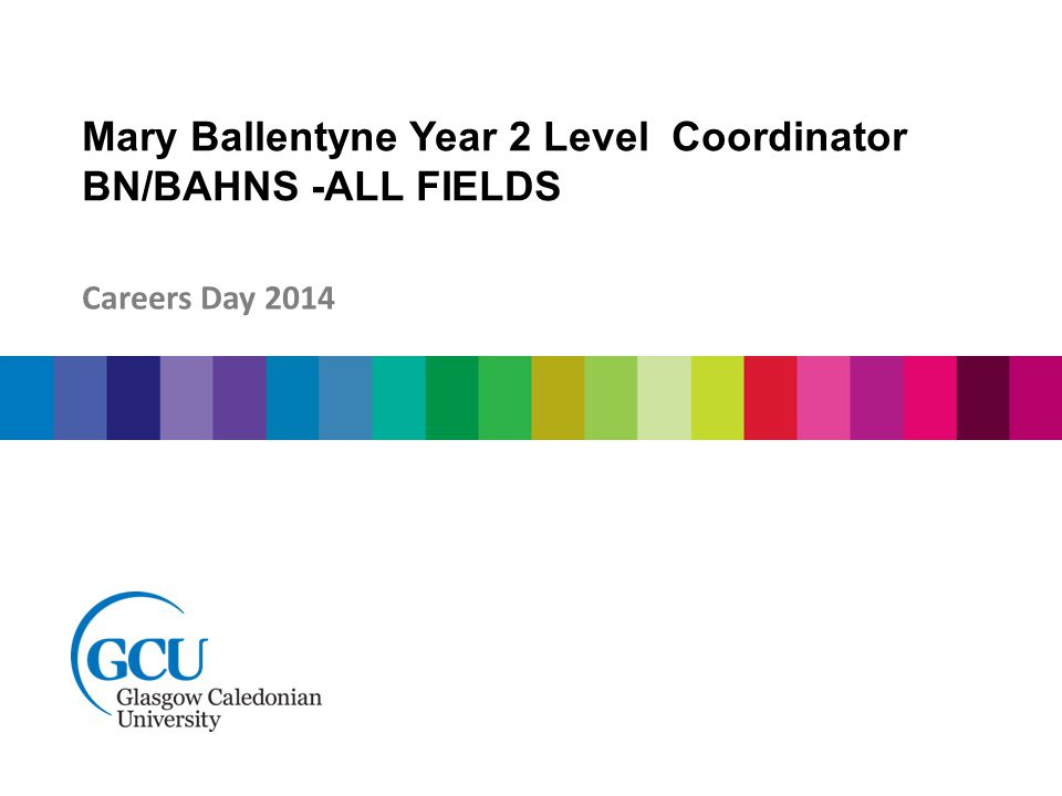 Mary Ballentyne Year 2 Level Coordinator BN/BAHNS -ALL FIELDS Careers Day 2014