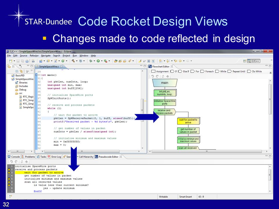 Code Rocket Design Views  Changes made to code reflected in design 32