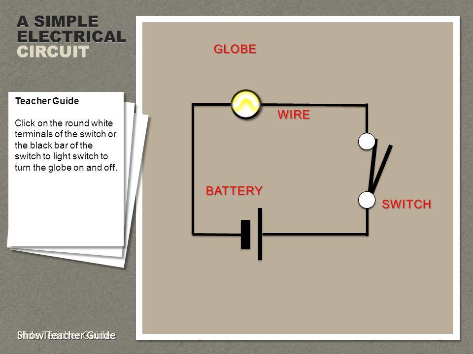 WIRE GLOBE COMMON ELECTRICA L SYMBOLS Teacher Guide Click to display each component.
