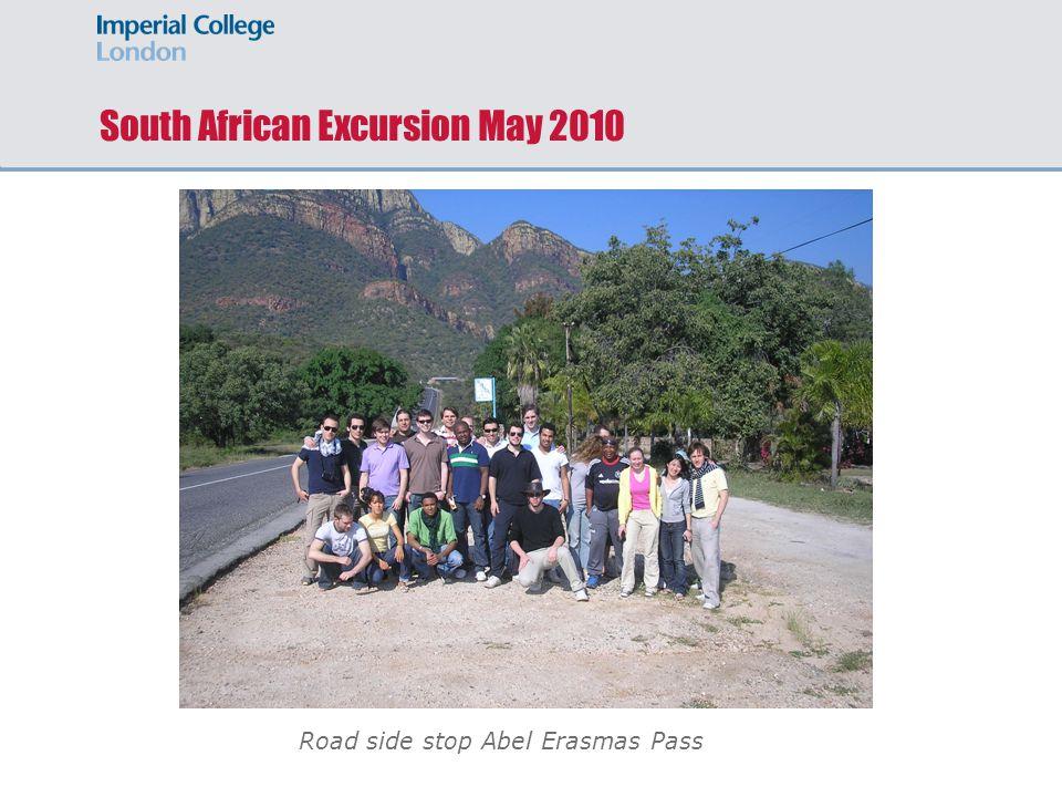 Road side stop Abel Erasmas Pass South African Excursion May 2010