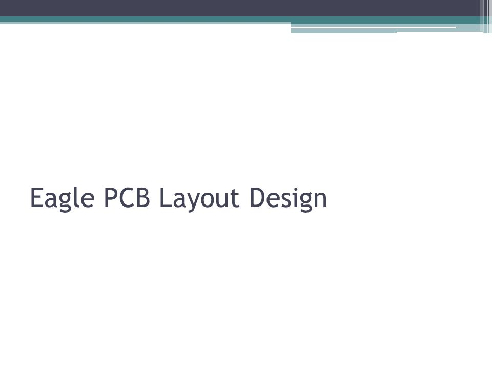 Eagle PCB Layout Design