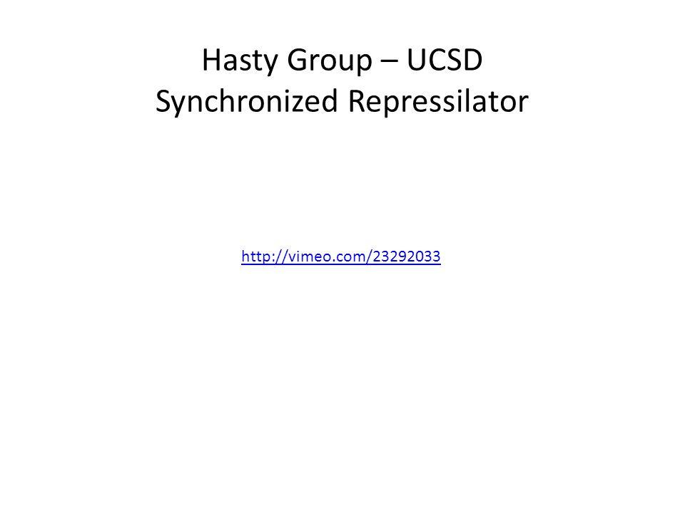 http://vimeo.com/23292033 Hasty Group – UCSD Synchronized Repressilator