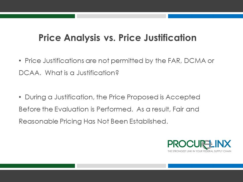 Price Analysis vs.