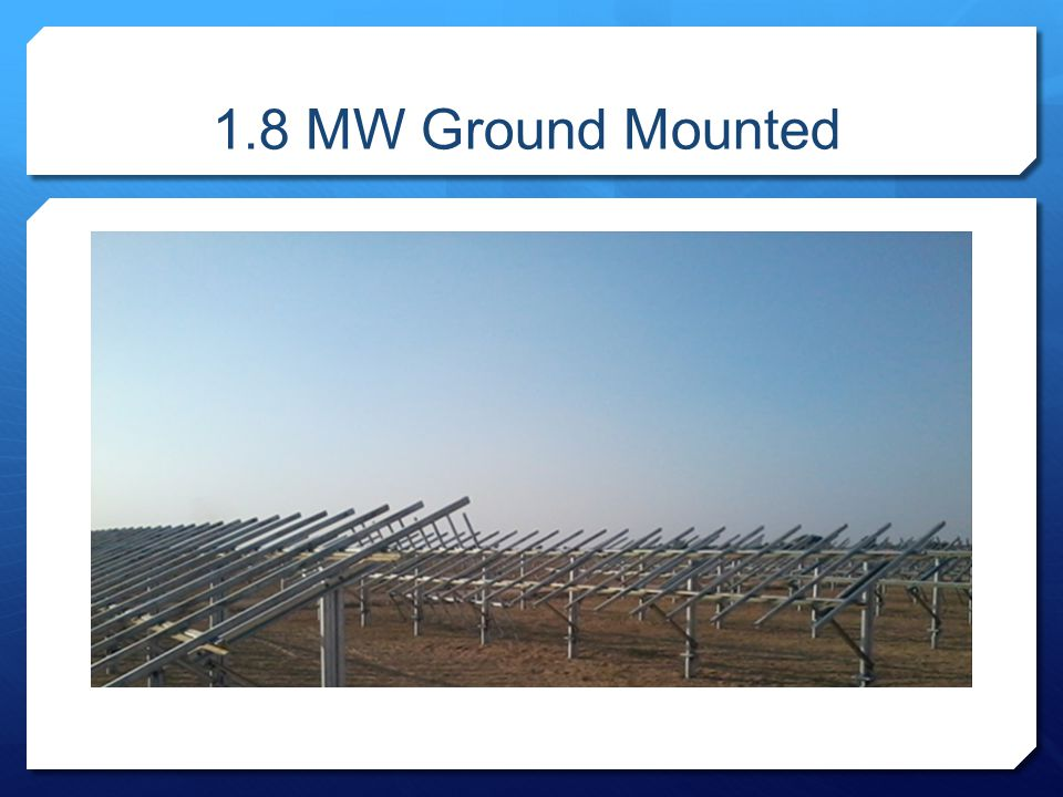 1.8 MW Ground Mounted