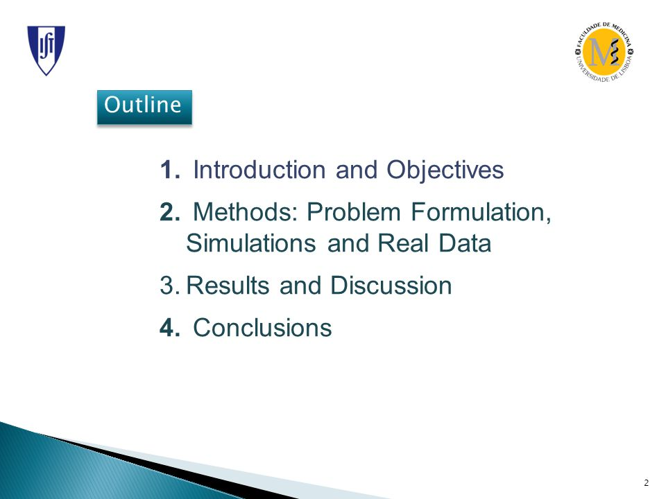 2 Outline 1. Introduction and Objectives 2.