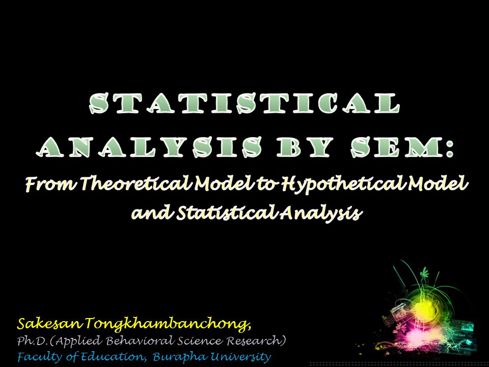 Sakesan Tongkhambanchong, Ph.D.(Applied Behavioral Science Research) Faculty of Education, Burapha University