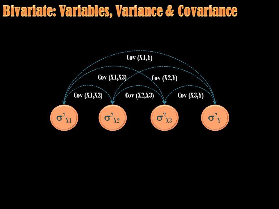  2 X1  2 X2  2 X3 2Y2Y Cov (X1,Y) Cov (X1,X2) Cov (X1,X3) Cov (X2,X3) Cov (X2,Y) Cov (X3,Y)