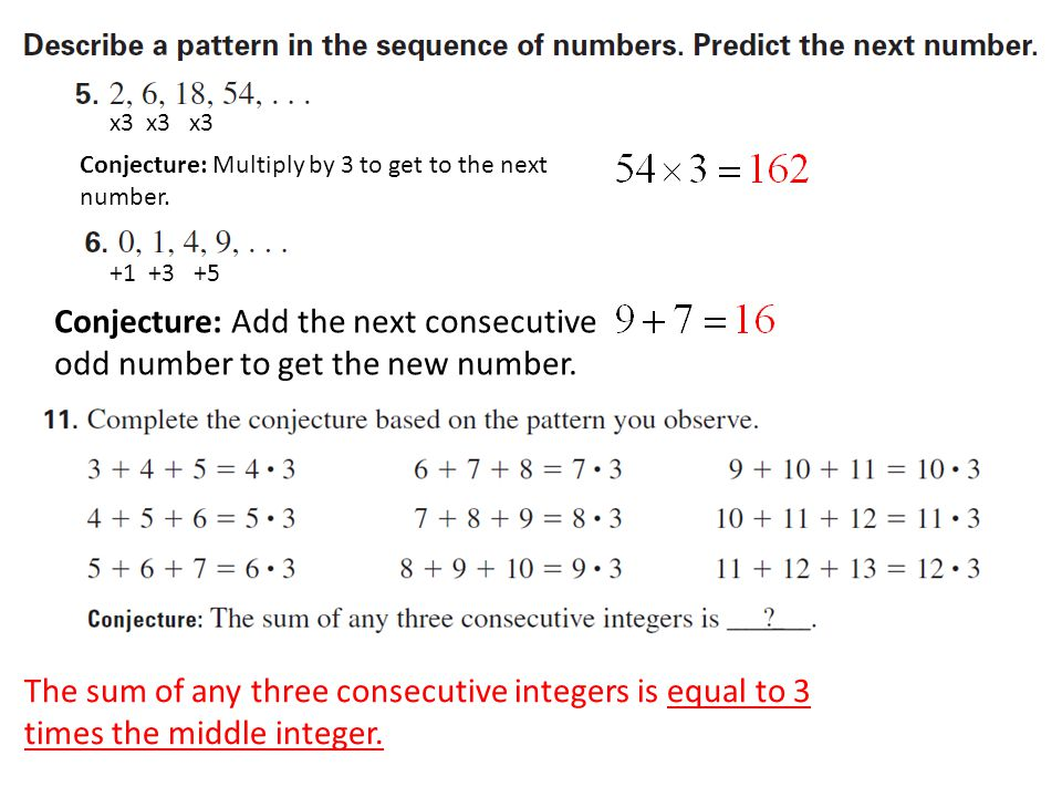 Conjecture: Multiply by 3 to get to the next number.