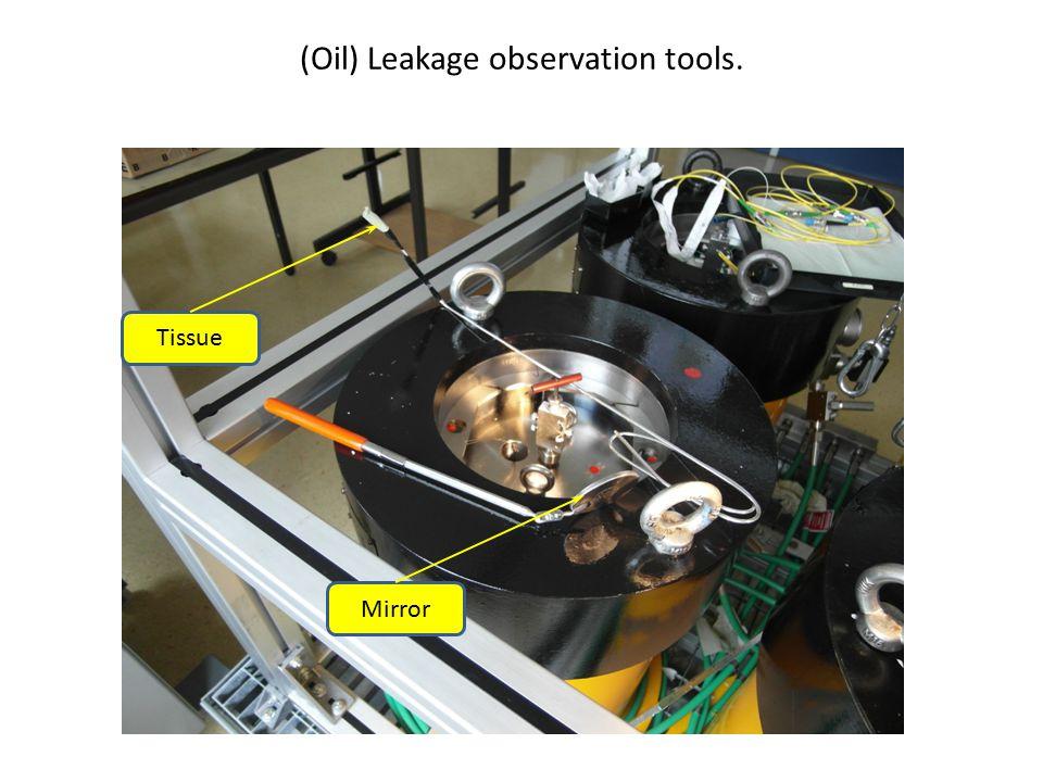 Mirror Tissue (Oil) Leakage observation tools.