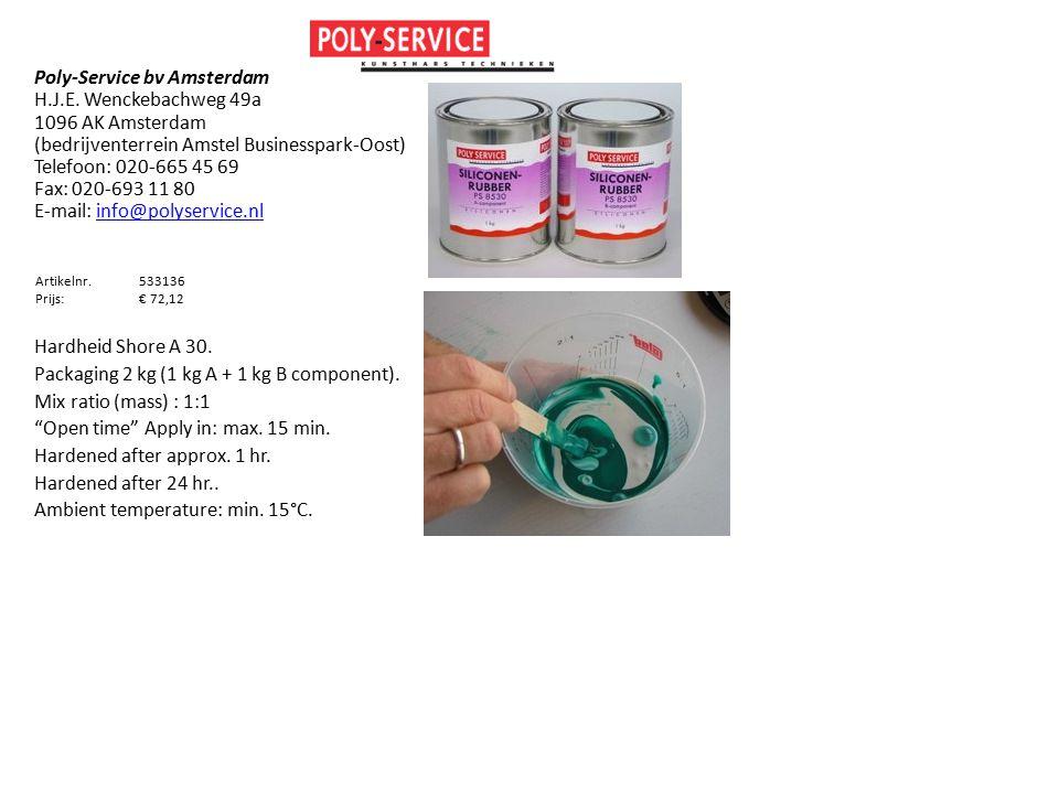 Poly-Service bv Amsterdam H.J.E. Wenckebachweg 49a 1096 AK Amsterdam (bedrijventerrein Amstel Businesspark-Oost) Telefoon: 020-665 45 69 Fax: 020-693