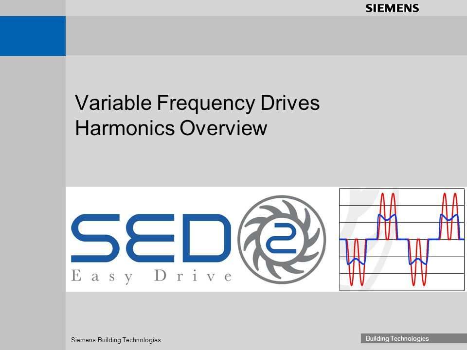 Siemens Building Technologies Building Technologies Variable Frequency Drives Harmonics Overview