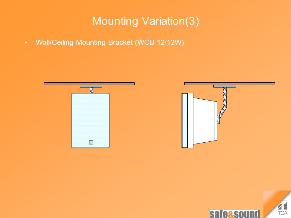 Mounting Variation(3) Wall/Ceiling Mounting Bracket (WCB-12/12W)