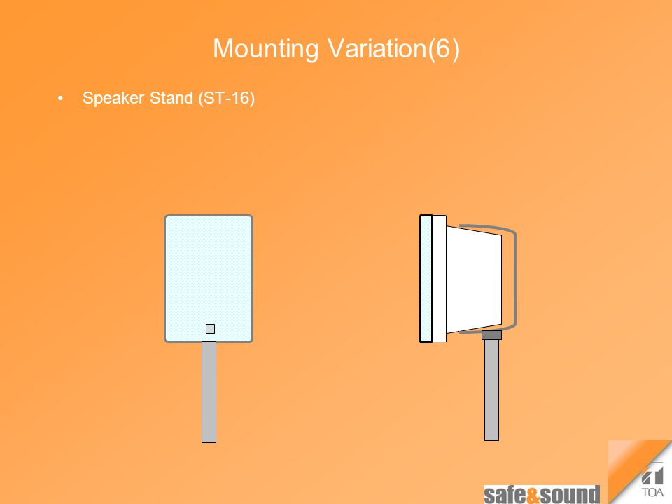 Mounting Variation(6) Speaker Stand (ST-16)