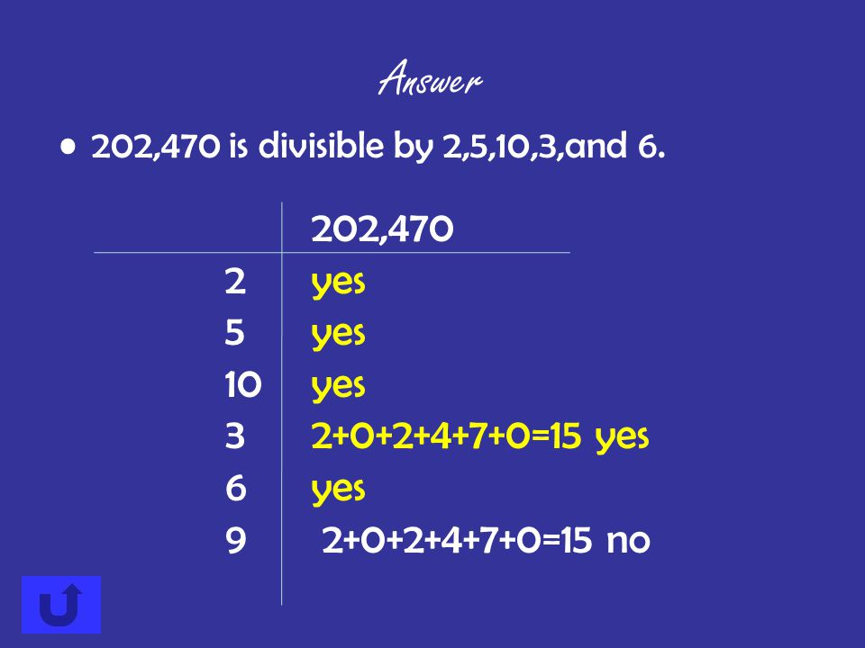 Is 202,470 divisible by 2, 5, 10, 3, 6, or 9? Answer