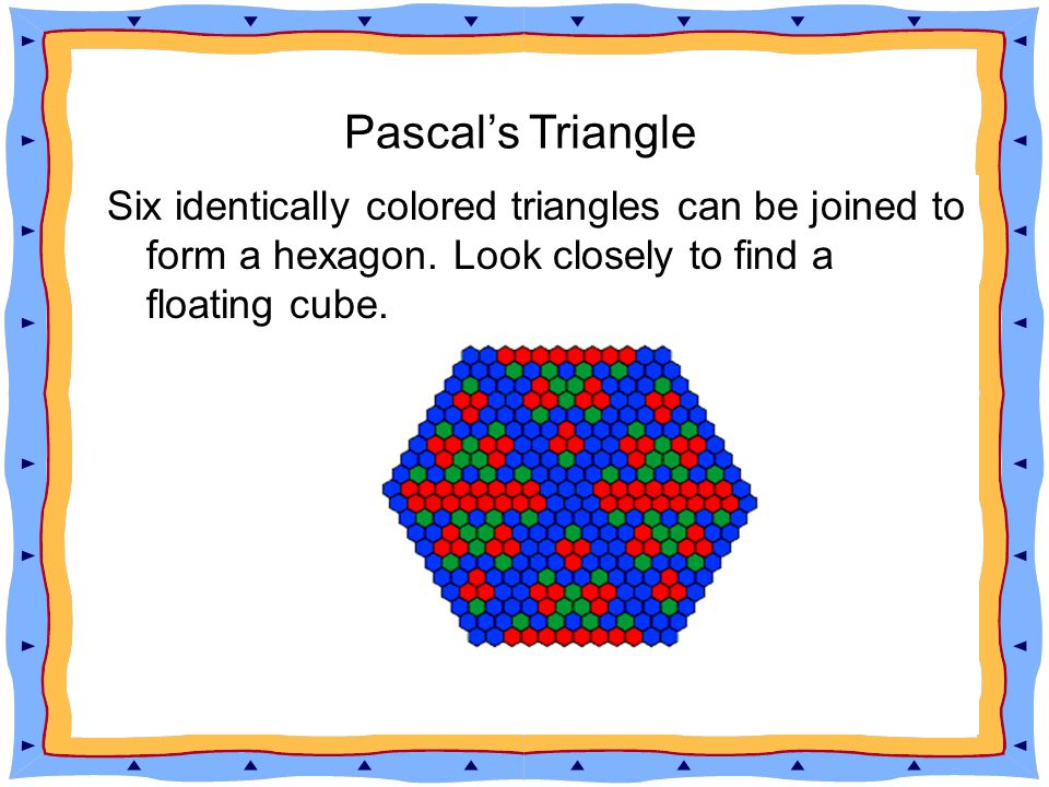 http://mathforum.org/workshops/usi/pascal/ pascal_handouts.html Pascal s Triangle