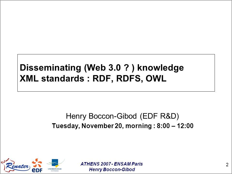 ATHENS 2007 - ENSAM Paris Henry Boccon-Gibod 63 Culminate 2 : Yet an other standard .