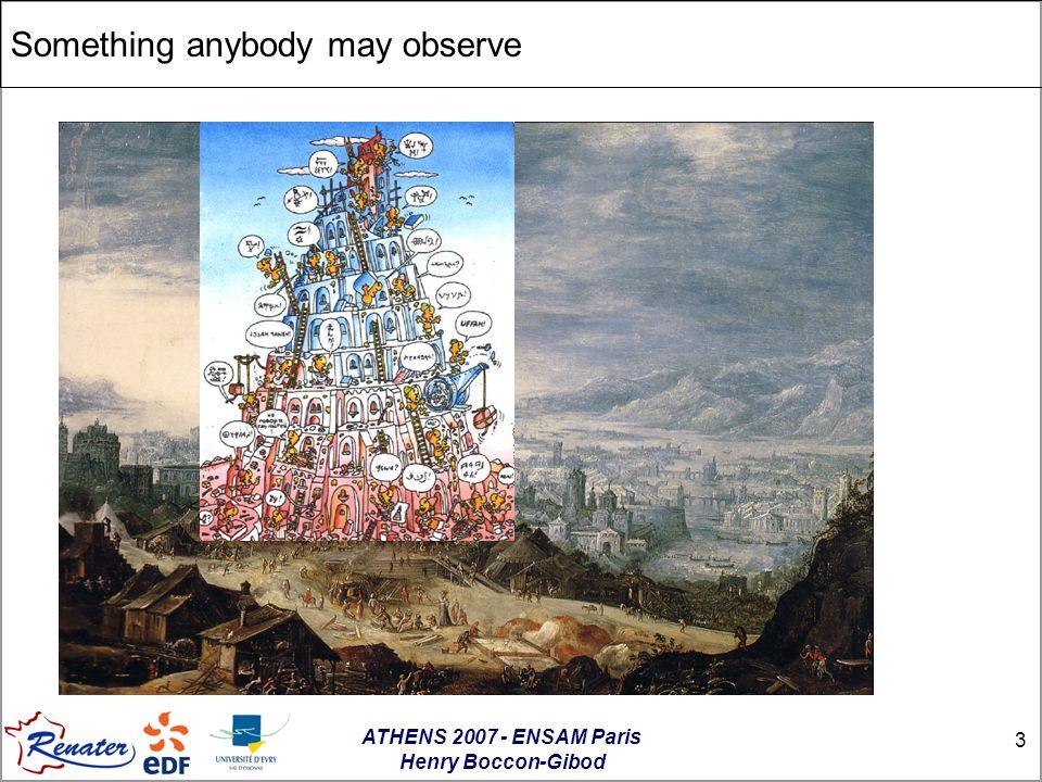ATHENS 2007 - ENSAM Paris Henry Boccon-Gibod 3 Something anybody may observe