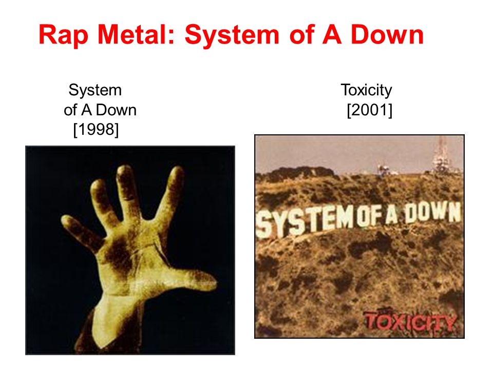 System Toxicity of A Down [2001] [1998] Rap Metal: System of A Down