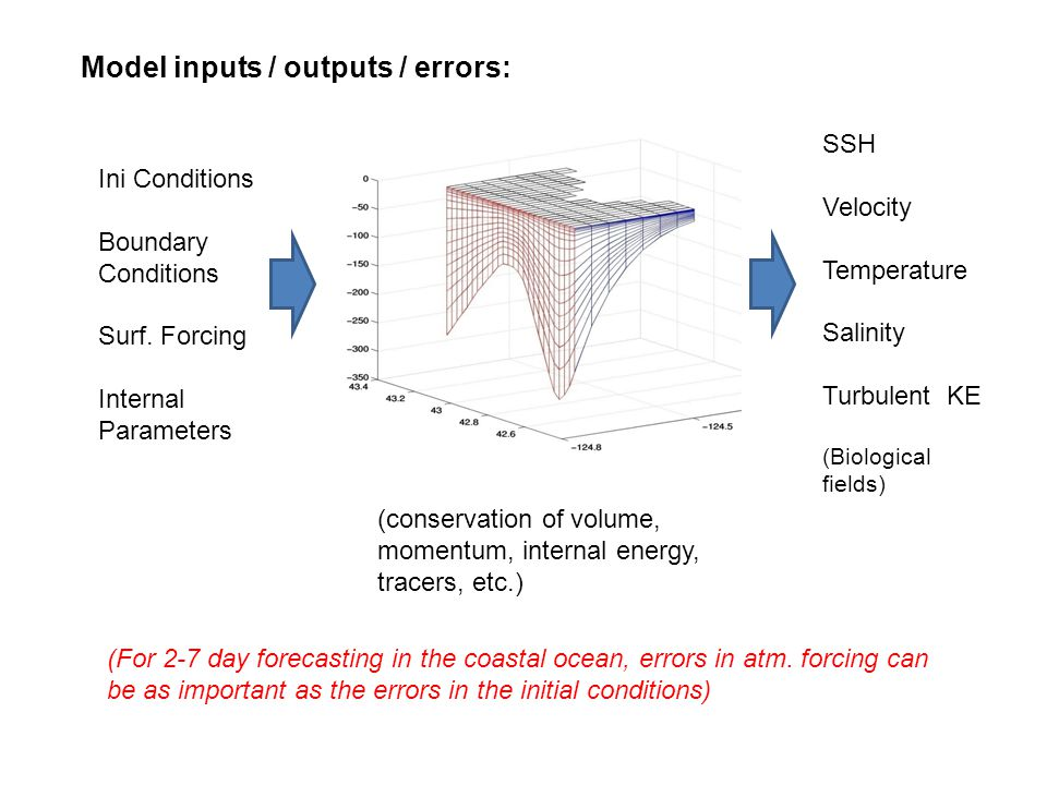 Model inputs / outputs / errors: Ini Conditions Boundary Conditions Surf.