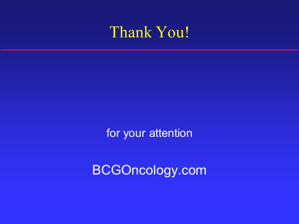 Thank You! for your attention BCGOncology.com