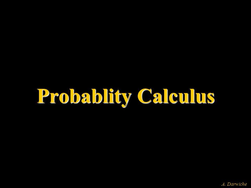 A. Darwiche Probablity Calculus