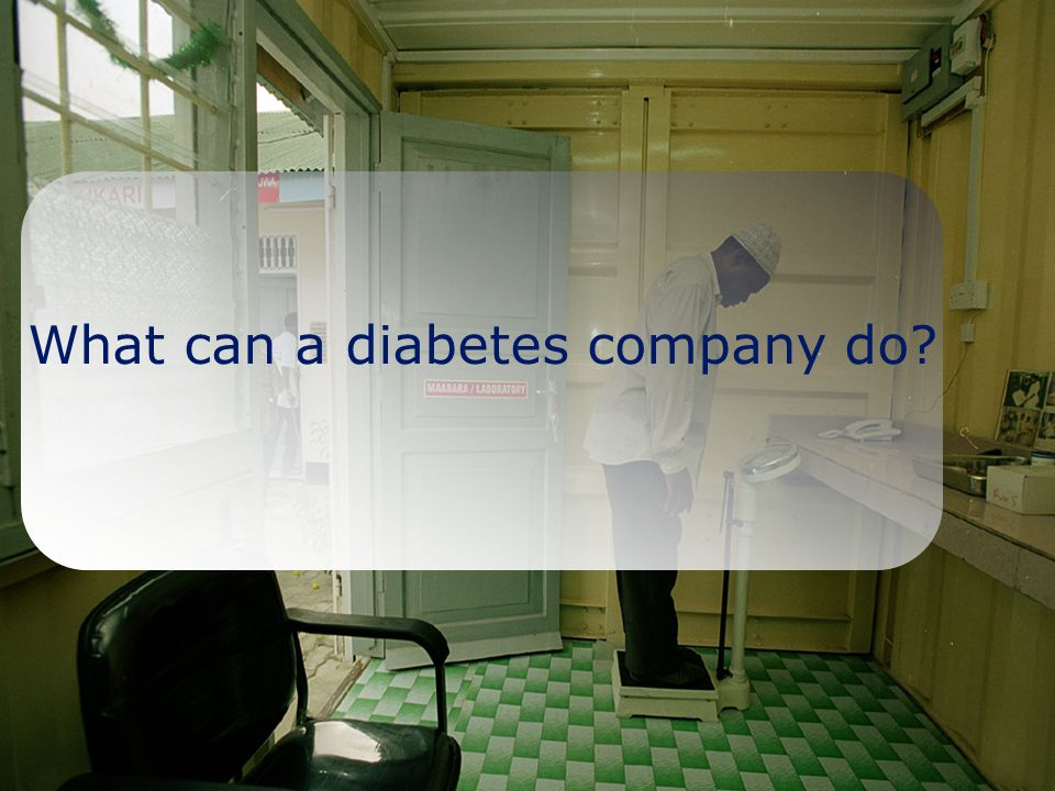 Slide No 8 What can a diabetes company do?