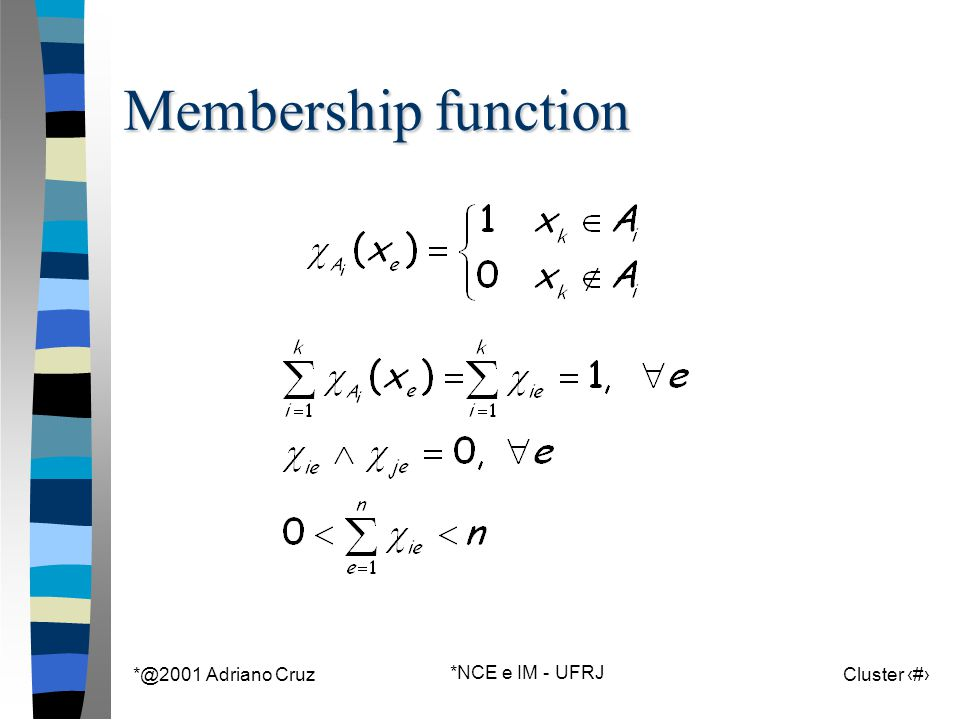 *@2001 Adriano Cruz *NCE e IM - UFRJ Cluster 55 Membership function