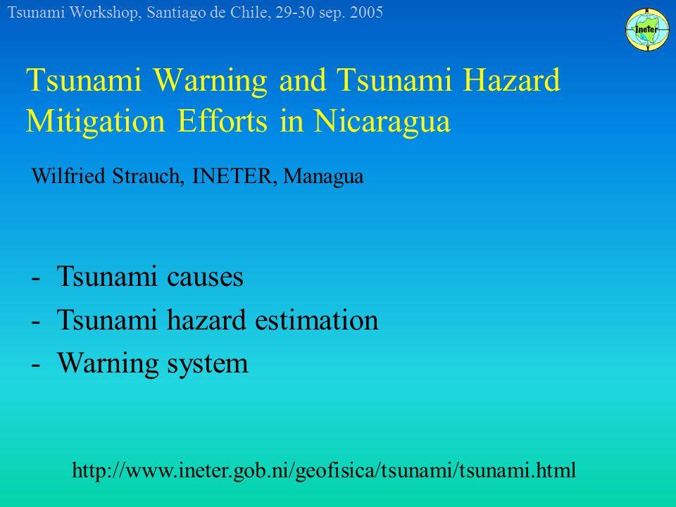 Tsunami Workshop, Santiago de Chile, 29-30 sep.2005 Lake Nicaragua: Tsunami by volcano collapse .