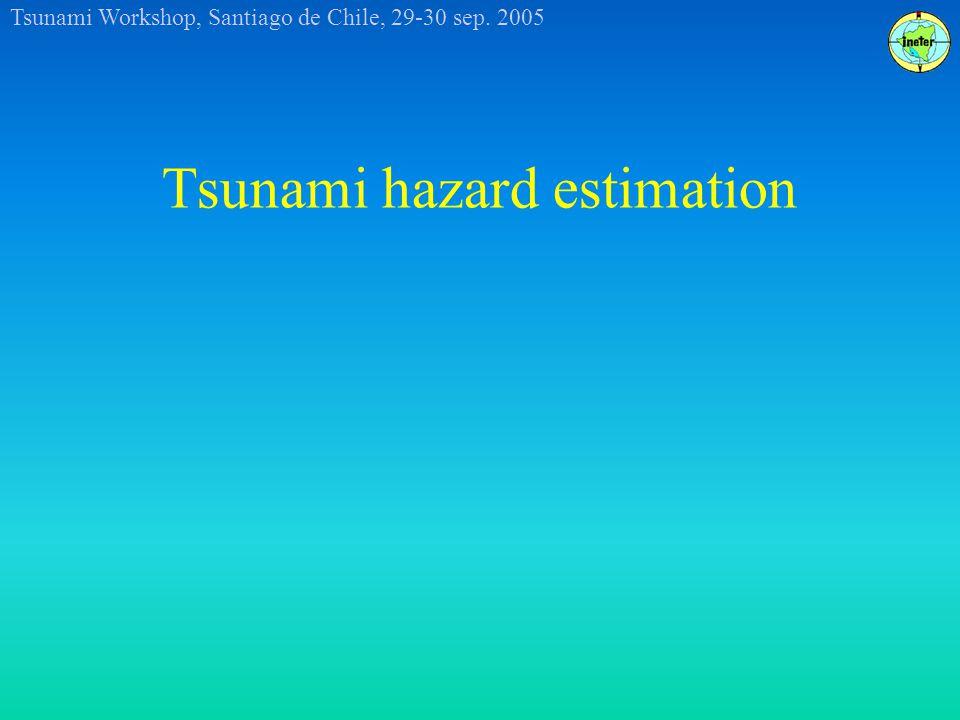 Tsunami Workshop, Santiago de Chile, 29-30 sep. 2005 Tsunami hazard estimation