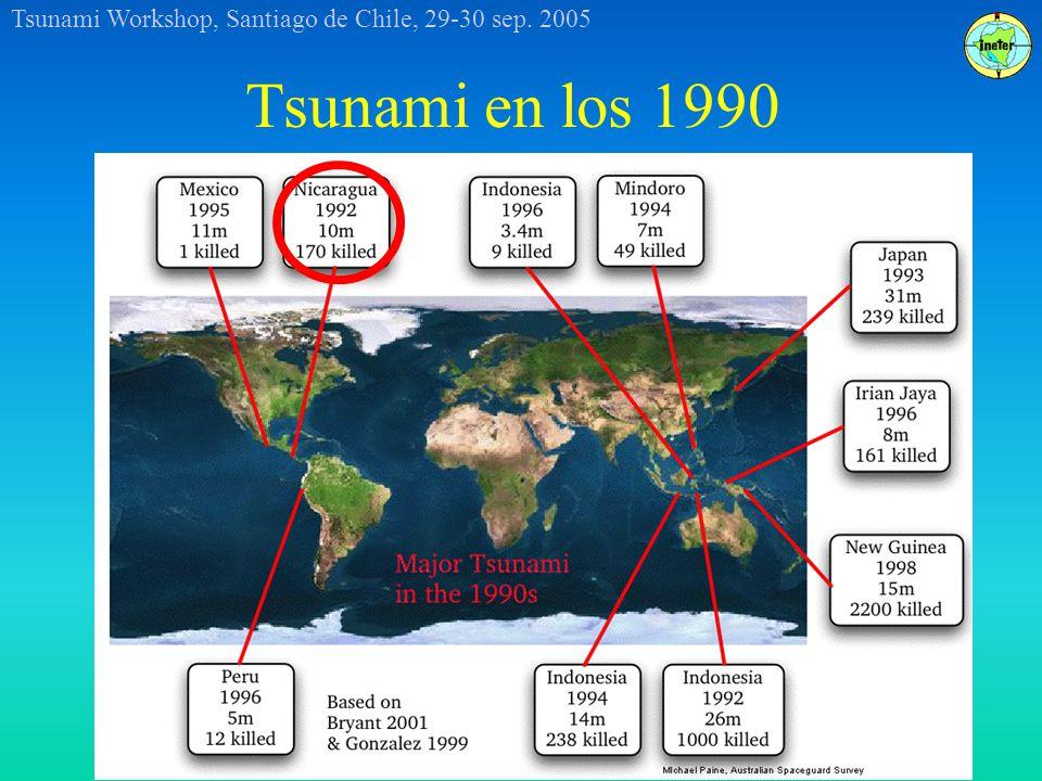 Tsunami Workshop, Santiago de Chile, 29-30 sep. 2005 Tsunami en los 1990