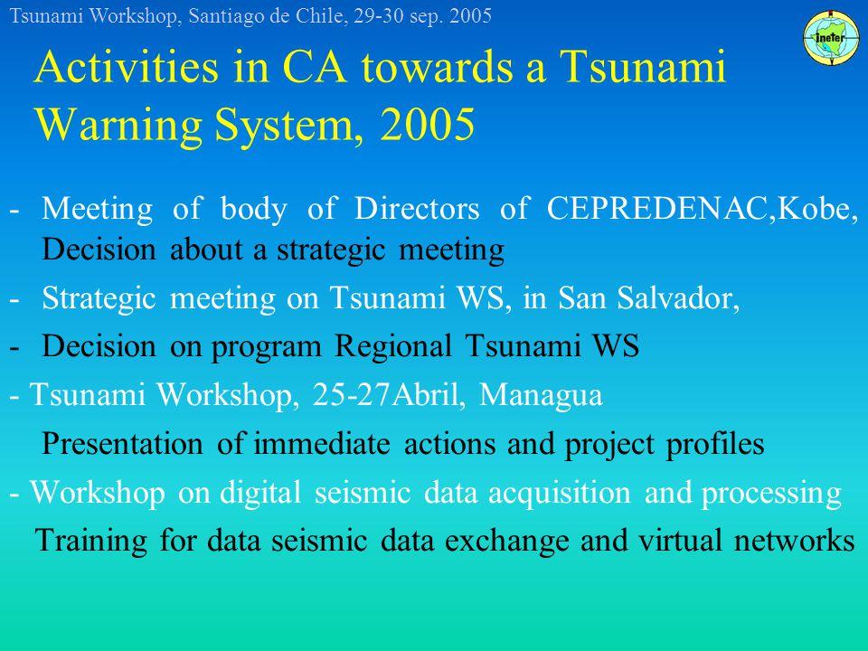 Tsunami Workshop, Santiago de Chile, 29-30 sep.