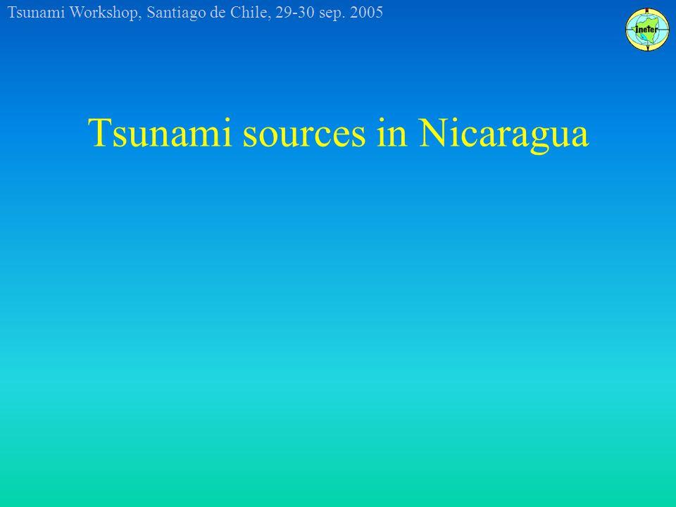 Tsunami Workshop, Santiago de Chile, 29-30 sep. 2005 Tsunami sources in Nicaragua