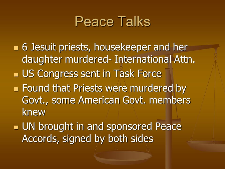 Peace Talks 6 Jesuit priests, housekeeper and her daughter murdered- International Attn.
