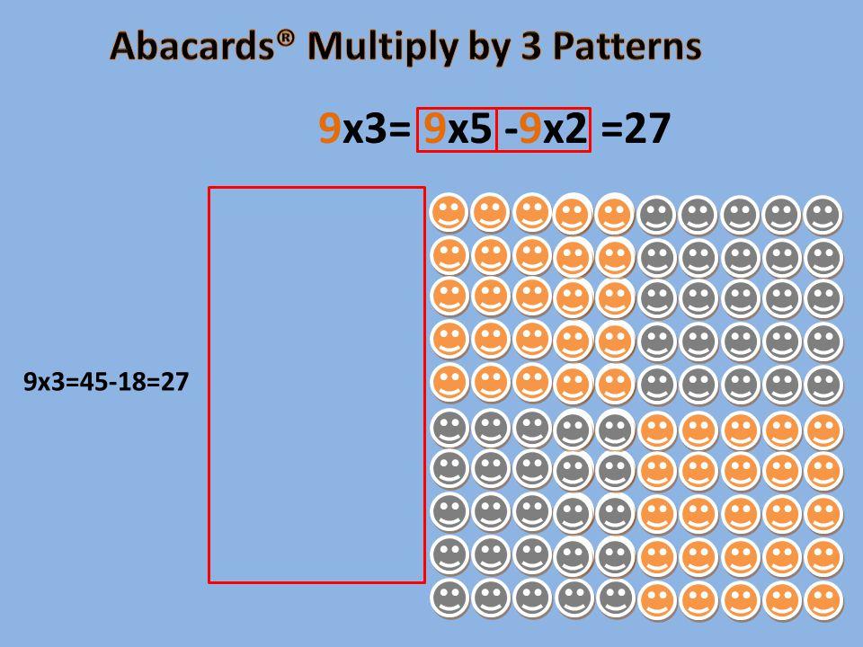 9x3=45-18=27 9x3= 9x5 -9x2 =27