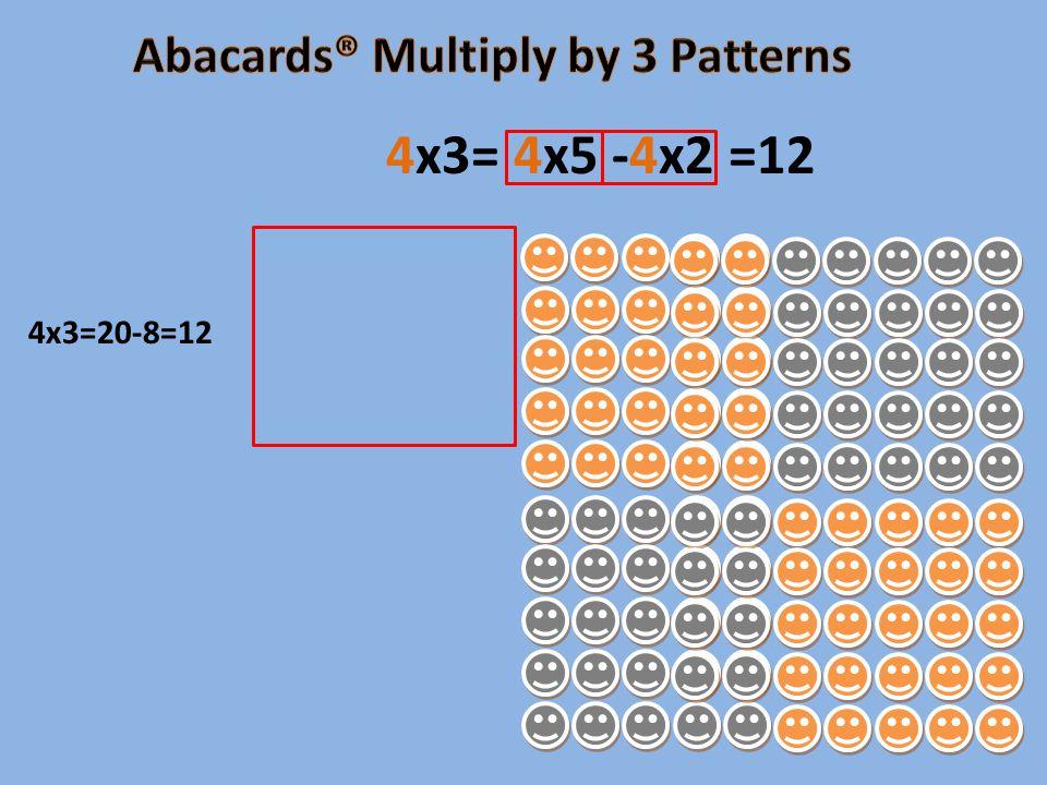 4x3=20-8=12 4x3= 4x5 -4x2 =12