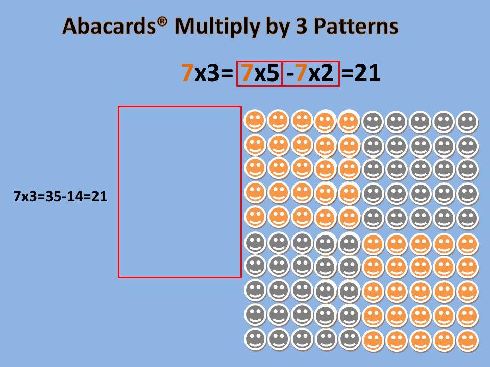 7x3=35-14=21 7x3= 7x5 -7x2 =21