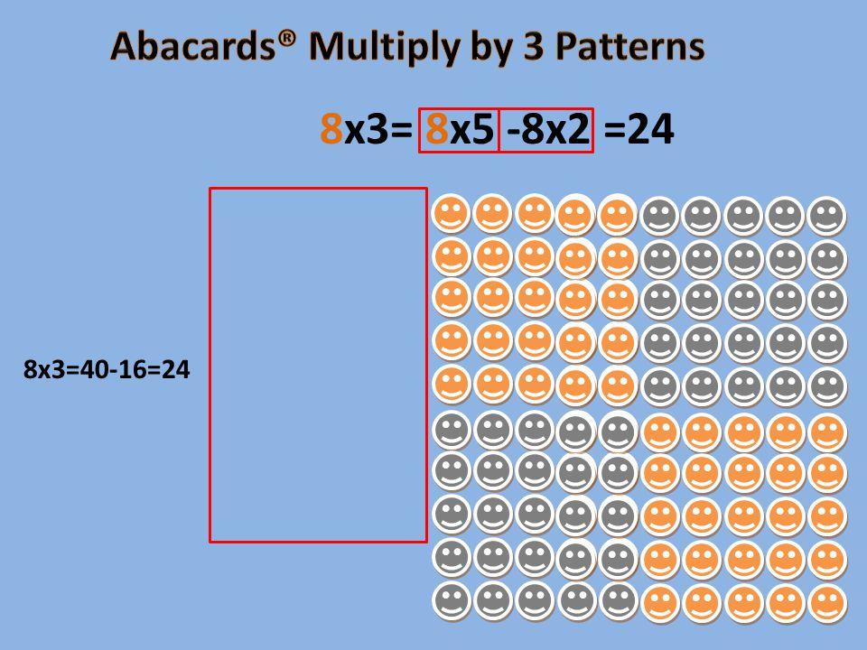 8x3=40-16=24 8x3= 8x5 -8x2 =24