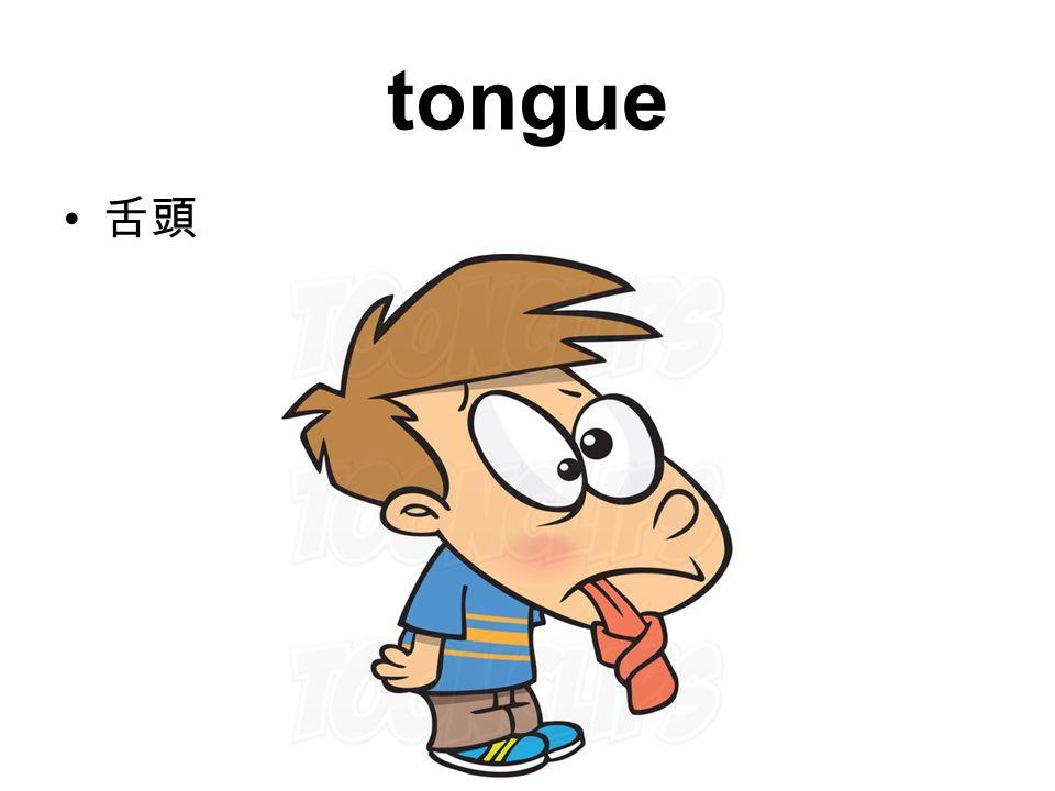 tongue 舌頭