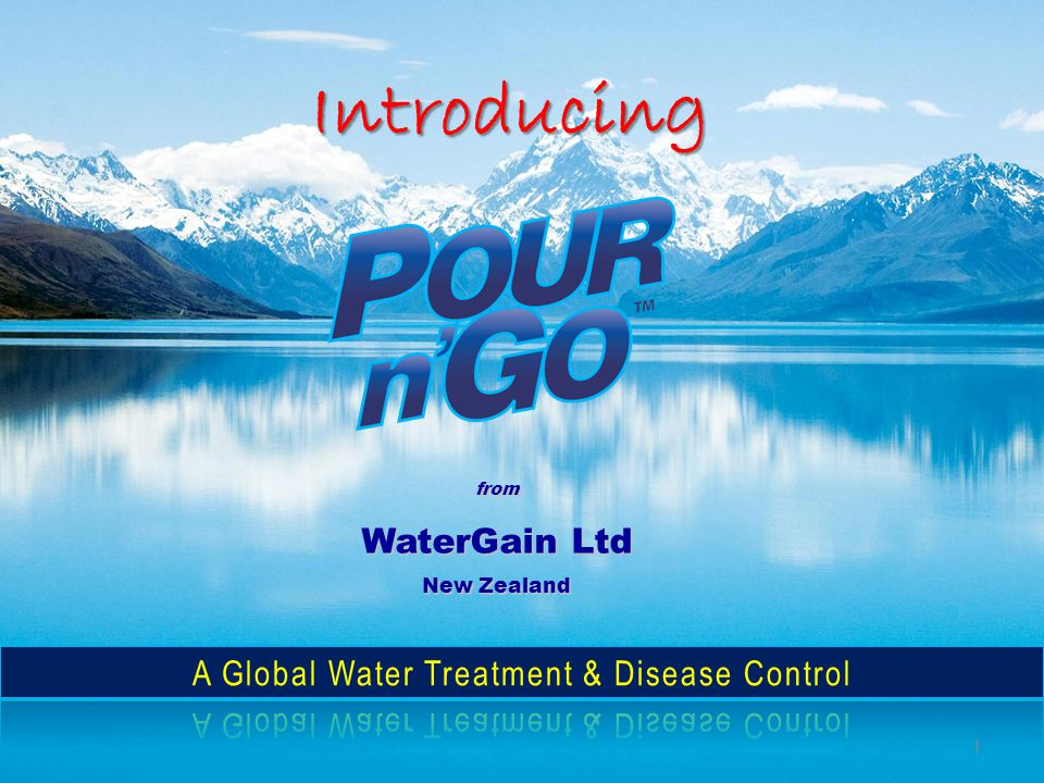 Introducing from WaterGain Ltd New Zealand 1