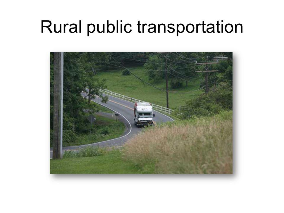 Rural public transportation