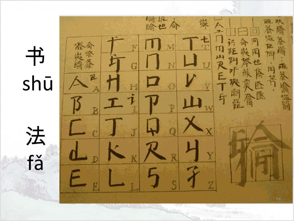 书 shū 法 fǎ