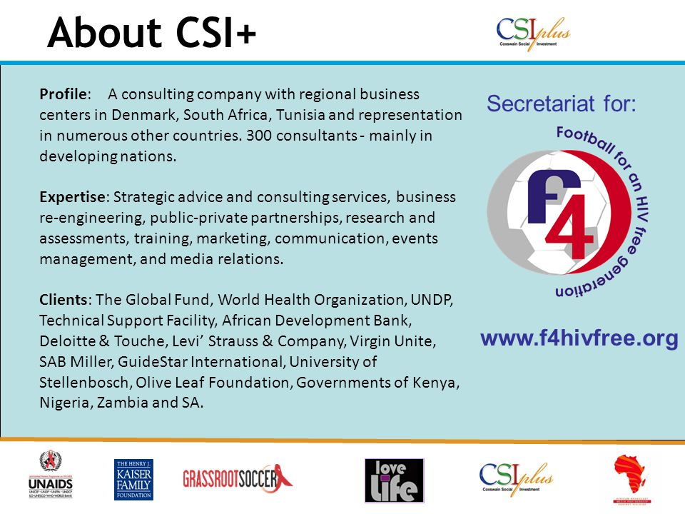 About CSI+ Profile:A consulting company with regional business centers in Denmark, South Africa, Tunisia and representation in numerous other countries.