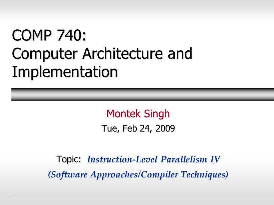 2Outline  Motivation  Compiler scheduling Loop unrolling Loop unrolling Software pipelining Software pipelining