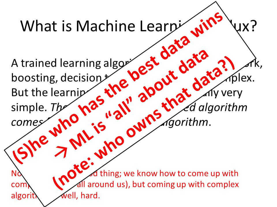 What is Machine Learning, Redux.
