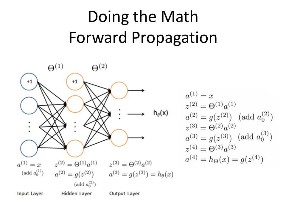 Doing the Math Forward Propagation