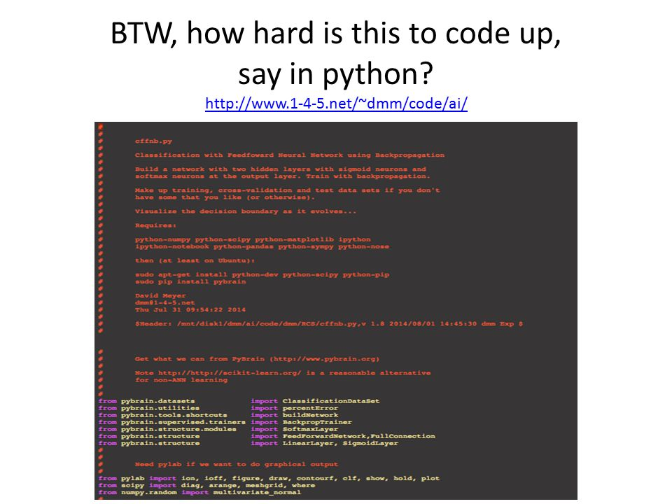 BTW, how hard is this to code up, say in python.